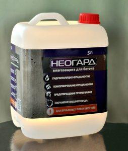 Гидрофобизатор Неогард для бетона - особо прочное покрытие